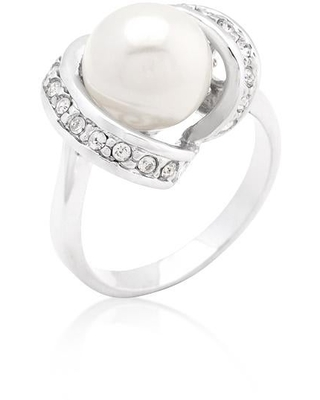 Single Pearl Cocktail Ring (Size 6)