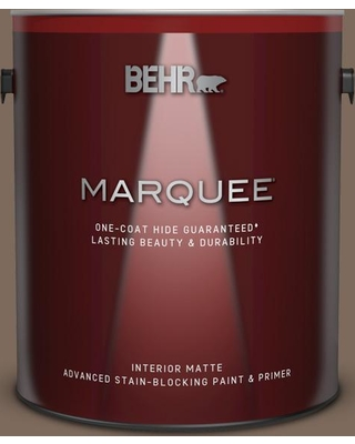 BEHR MARQUEE 1 gal. #QE-23 Chalet Matte Interior Paint and Primer in One