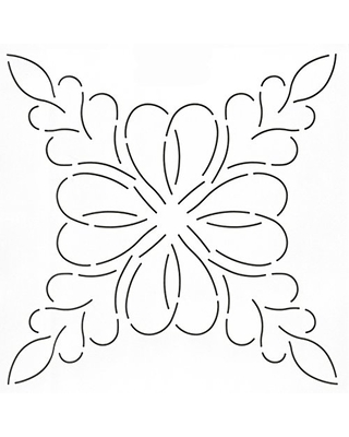 """Quilting Creations Feathered Hearts Quilt Stencil, 12"""""""