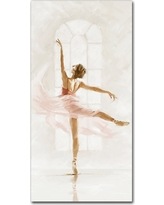 Grace and Beauty 2' by The Macneil Studio Ready to Hang Canvas Wall Art - Pink Lilac