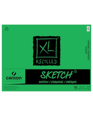 """Canson® Xl® Recycled Sketch Pad, 18"""" X 24"""" 