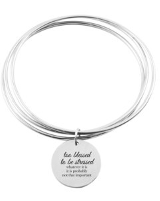 Three Layer Bangle - TOO BLESSED