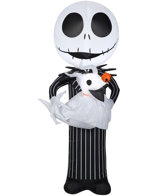 5Ft Airblown® Inflatable Halloween Disney® Jack Holding Zero By Gemmy Industries   Michaels®