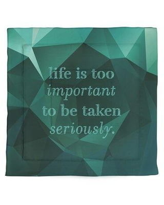 East Urban Home Faux Gemstone Life & Levity Quote Microfiber Comforter - King Size EBJZ7469 Size: King Comforter Color: Emerald Green