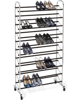 10-Tier Rolling Shoe Rack