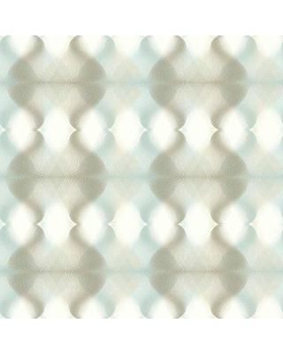 """York Wallcoverings Hypnotic 32.8' x 20.8"""" Abstract Wallpaper Roll CE390 Color: Neutral/Blue"""