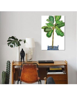 """East Urban Home 'Potted Jungle IV' Acrylic Painting Print on Wrapped Canvas ESUH7950 Size: 26"""" H x 18"""" W x 0.75"""" D"""
