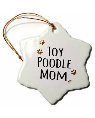 Toy Poodle Dog Mom Snowflake Holiday Shaped Ornament The Holiday Aisle®