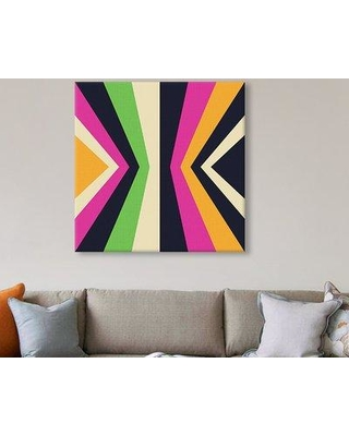 """East Urban Home 'Converge II' Graphic Art on Wrapped Canvas ESTN6323 Size: 26"""" H x 26"""" W x 1.5"""" D"""