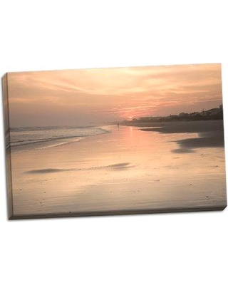 Highland Dunes 'Beach Sunset 1' Photographic Print on Wrapped Canvas BF052610