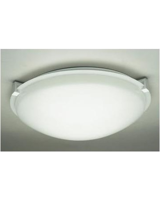 """Ebern Designs Tunnell Flush Mount ENDE3697 Finish / Shade Finish / Size / Bulb Type: White / Frost / 4.5"""" H x 20"""" W / J118mm"""