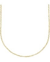 """Italian Gold 14k Gold Necklace, 20"""" Perfectina Chain (1-1/8mm)"""