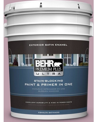 BEHR ULTRA 5 gal. #S120-4 Decanting Satin Enamel Exterior Paint and Primer in One