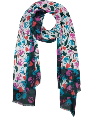 Women's Kate Spade New York Fancy Floral Oblong Scarf, Size One Size - Ivory