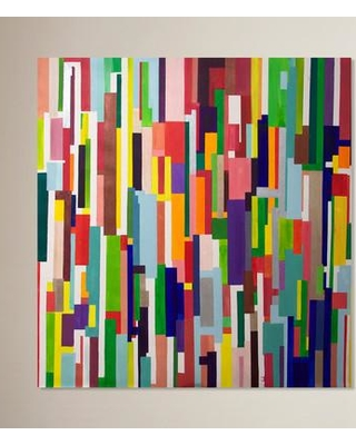 """Ivy Bronx 'Colorful Geometric' Painting Print on Wrapped Canvas IVYB6422 Size: 16"""" H x 16"""" W x 1.5"""" D"""