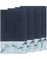 Bay Isle Home Swick Embellished Turkish Cotton Bath Towel BF115052 Color: Midnight Blue