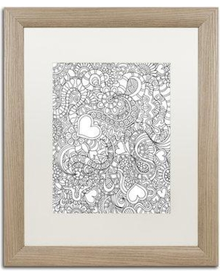 "Trademark Fine Art ""Mixed Coloring Book 49"" by Kathy G. Ahrens Framed Graphic Art ALI3474-T1 Size: 20"" H x 16"" W x 0.5"" D Matte Color: White"