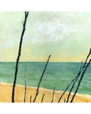 """Buy Art For Less 'Painted Branches on the Beach' by Michelle Calkins Painting Print on Wrapped Canvas CAN MI1162 GW Size: 18"""" H x 18"""" W x 1.5"""" D"""