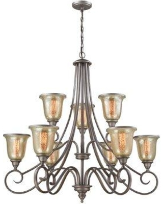 Check Out Deals On Fleur De Lis Living Waller 9 Light Shaded Tiered Chandelier Cg293103