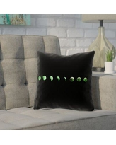 "Brayden Studio Enciso Moon Phases Square Pillow Cover BYST5879 Size: 14"" x 14"", Color: Green"