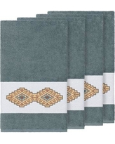 Millwood Pines Embassy Embellished Turkish Cotton Bath Towel BF110031 Color: Teal
