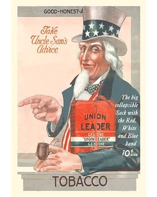 "Take Uncle Sam's Advice Union Leader Tobacco Vintage Advertisement Buyenlarge Size: 42"" H x 28"" W x 1.5"" D"