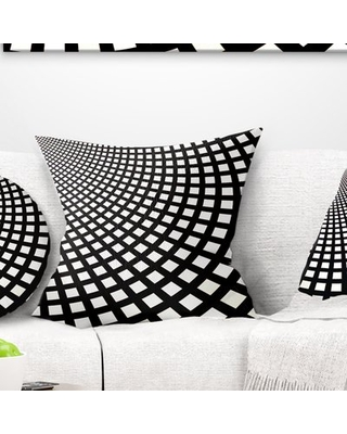 """Abstract Fractal Square Pixel Mosaic Illustration Pillow East Urban Home Size: 18"""" x 18"""", Product Type: Throw Pillow"""