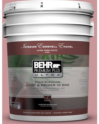BEHR ULTRA 5 gal. #S140-4 Minstrel Rose Eggshell Enamel Interior Paint and Primer in One
