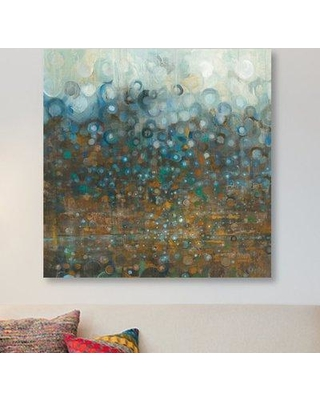 """East Urban Home 'Blue and Bronze Dots' Painting Print on Canvas ESUR1758 Size: 12"""" H x 12"""" W x 0.75"""" D"""