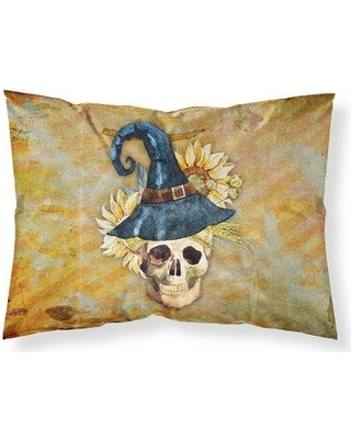 East Urban Home Day of the Dead Witch Skull Pillowcase W000825412