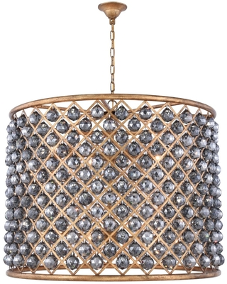 Madison 12 light Golden Iron ChandelierSilver Shade (Grey) Royal Cut - One Size (One Size - Clear)