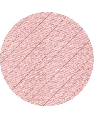 East Urban Home Striped Wool Pink Area Rug X113668606 Rug Size: Round 4'