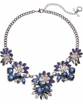 Simply Vera Vera Wang Blue Flower Statement Necklace, Women's, multicolor