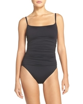 Women's La Blanca 'Island Goddess' One-Piece Swimsuit, Size 14 - Black