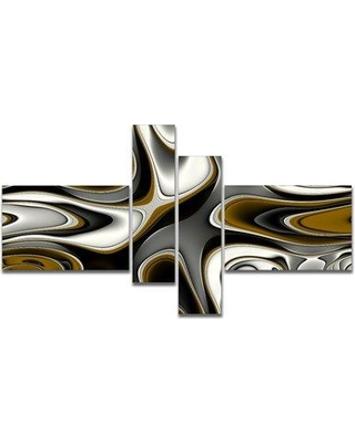 East Urban Home 'Fantastic Fractal Abstract Pattern' Graphic Art Print Multi-Piece Image on Canvas EUHG8494