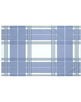 "Darby Home Co Burton Plaid Print Throw Blanket DRBC6018 Size: 60"" L x 50"" W, Color: Washed Out (Light Blue/Blue)"