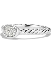 Women's David Yurman 'Cable Collectibles' Oval Ring With Diamonds