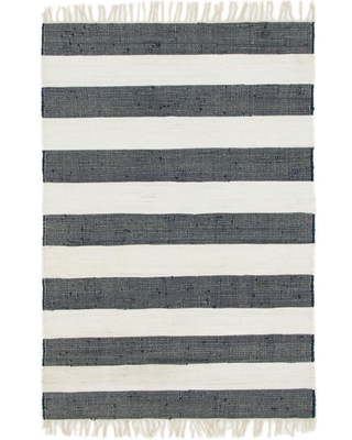 StyleWell Lorelei Navy/Ivory 4 ft. x 6 ft. Striped Area Rug