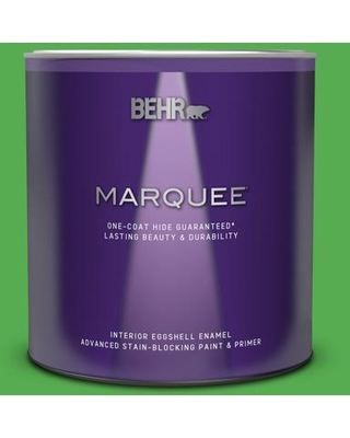 BEHR MARQUEE 1 qt. #440B-6 Barnyard Grass Eggshell Enamel Interior Paint and Primer in One