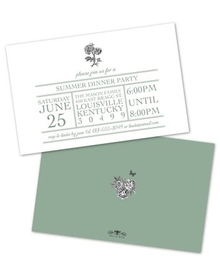 Personalized Floral Pencil Sketch Party Invitations