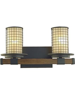 Hardware House Baymount Double Wall Fixture 25-0955 with Oil Rubbed Bronze Finish and Metal Accents