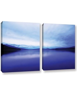 """ArtWall Oregon-Odell Lake by Dan Wilson 2 Piece Photographic Print on Wrapped Canvas Set 0wil016b Size: 24"""" H x 36"""" W x 2"""" D"""