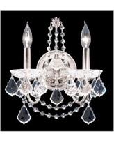 """James R. Moder 14"""" High Crystal Wall Sconce"""