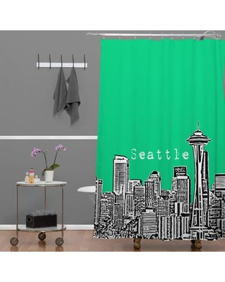 Deny Designs Bird Ave Seattle Shower Curtain 13612 13613 Shocur Color Green