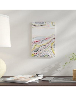 """East Urban Home 'Watercolor Marbling I' Graphic Art Print on Canvas URHE2078 Size: 18"""" H x 12"""" W x 0.75"""" D"""