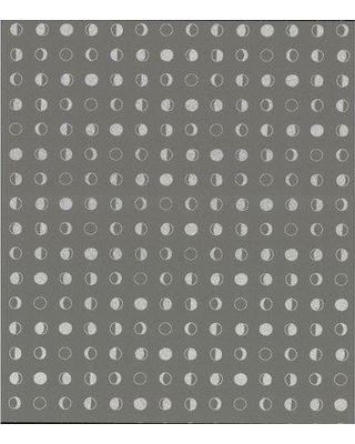 """Hashtag Home Hive Lunar 32.8' x 20.8"""" Polka Dot Smooth Peel and Stick Wallpaper Roll X111294641 Color: Taupe/Silver"""