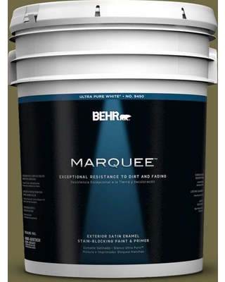 BEHR MARQUEE 5 gal. #390F-7 Wilderness Satin Enamel Exterior Paint and Primer in One