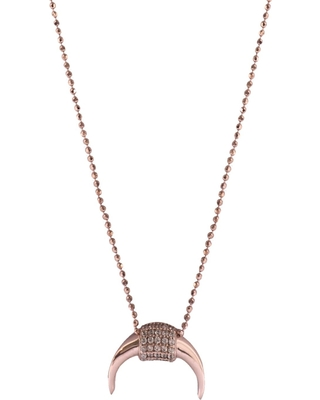 Wild Hearts - Horn Necklace Rose Gold