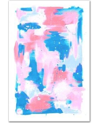 Wrought Studio 'Abstract Pastel Splash' Acrylic Painting Print on Wrapped Canvas BF059170