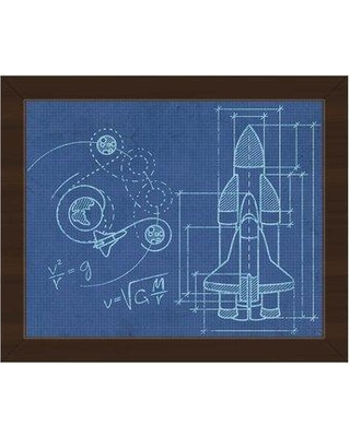 Amazing Deal On Click Wall Art Spaceship Blueprint Framed Graphic